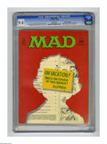 "Magazines:Mad, Mad #130 Gaines File pedigree (EC, 1969) CGC NM 9.4 White pages. Angelo Torres first work as regular artist on title. ""Where..."