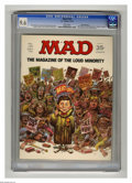 "Magazines:Mad, Mad #139 Gaines File pedigree (EC, 1970) CGC NM+ 9.6 White pages.""Airport"" parody. Non-slanderous smear speech spoof. Cover..."