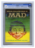 "Magazines:Mad, Mad #146 Gaines File pedigree (EC, 1971) CGC FN/VF 7.0 Off-white towhite pages. ""Love Story"" movie spoof. ""Sesame Street"" T..."