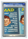 """Magazines:Mad, Mad #151 Gaines File pedigree (EC, 1972) CGC VF- 7.5 White pages.""""Medical Center"""" TV spoof. """"Carnal Knowledge"""" parody. 1972..."""