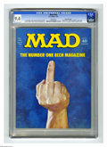 Magazines:Mad, Mad #166 Gaines File pedigree (EC, 1974) CGC NM 9.4 White pages.Controversial cover which many newsdealers refused to displ...
