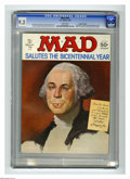 """Magazines:Mad, Mad #181 Gaines File pedigree (EC, 1976) CGC NM- 9.2 White pages.""""Rollerball"""" parody. George Washington cover. Alfred E. Ne..."""
