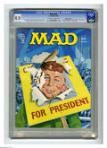 """Magazines:Mad, Mad #185 Gaines File pedigree (EC, 1976) CGC VF 8.0 Off-white towhite pages. """"Barry Lyndon"""" movie parody. """"Starsky and Hutc..."""