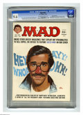 """Magazines:Mad, Mad #187 Gaines File pedigree (EC, 1976) CGC NM+ 9.6 Off-white towhite pages. """"Happy Days"""" and """"All The President's Men"""" pa..."""