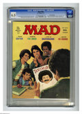 """Magazines:Mad, Mad #189 Gaines File pedigree (EC, 1977) CGC FN+ 6.5 Off-white to white pages. """"The Omen"""" and """"Welcome Back Kotter"""" parodies..."""
