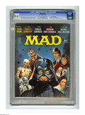 """Magazines:Mad, Mad #196 Gaines File pedigree (EC, 1978) CGC NM 9.4 Off-white towhite pages. """"Star Wars"""" cover and parody. """"THree's Company..."""