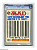 """Magazines:Mad, Mad #198 Gaines File pedigree (EC, 1978) CGC NM+ 9.6 Off-whitepages. UPC symbol cover and parody. """"Alice"""" and """"The Deep"""" pa..."""