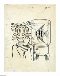 Original Comic Art:Covers, Hy Eisman (attributed) - Dagwood Comics #58 Cover Original Art(Harvey, 1955). The chat around the office water cooler is su...