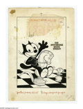 Original Comic Art:Covers, Joe Oriolo - Felix the Cat #85 Cover Original Art (Harvey, 1957).Astride a gleaming chesspiece, Felix hops into another uni...