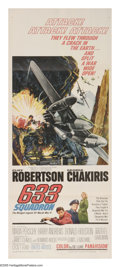 """Movie Posters:War, 633 Squadron (United Artists, 1964). Insert (14"""" X 36""""). CliffRobertson is the commander of the 633 Squadron, assigned to s..."""