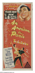 """Movie Posters:Academy Award Winner, An American In Paris (MGM, 1951). Australian Daybill (13"""" X 30""""). One of the great MGM musicals of the fifties and the Best ..."""