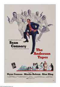 "The Anderson Tapes Lot (Columbia, 1971). One Sheet (27"" X 41"") and Lobby Cards (7) (11"" X 14""). Care..."