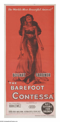 """The Barefoot Contessa (United Artists, 1954). Australian One Sheet (13"""" X 30""""). The life and death of a beauti..."""