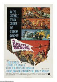 """The Battle of Neretva (AIP, 1971). One Sheet (27"""" X 41""""). In 1943, the Germans attacked Yugoslav freedom fight..."""