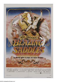 "Blazing Saddles (Warner Brothers, 1974). One Sheet (27"" X 41""). ""Is that a ten gallon hat, or are you jus..."
