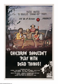 "Children Shouldn't Play with Dead Things (Geneni, 1972). Poster (40"" X 60""). A group of friends play around wi..."