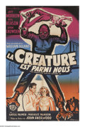 """Movie Posters:Science Fiction, The Creature Walks Among Us (Universal, 1956). French Poster (30"""" X47""""). The third Gill-Man picture, in which the creature ..."""
