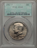Kennedy Half Dollars, 1982-P 50C MS66 PCGS. PCGS Population: (249/10). NGC Census:(84/4). Mintage 10,819,000. ...