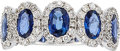Estate Jewelry:Rings, Sapphire, Diamond, White Gold Ring The ring fe...