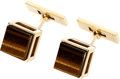 Estate Jewelry:Cufflinks, Tiger's-Eye Quartz, Gold Cuff Links, French. ...