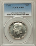Kennedy Half Dollars, 1966 50C MS66 PCGS. PCGS Population: (226/14). NGC Census: (191/3).Mintage 108,984,928. ...