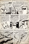 Original Comic Art:Panel Pages, Bill Everett Young Men #26 Story Page 6 Original Art(Atlas/Marvel, 1954)....