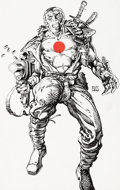 Original Comic Art:Covers, Barry Windsor-Smith Bloodshot #1 Cover and Preliminary Artwork Original Art Group of 2 (Valiant, 1993).... (Total: 2 Original Art)