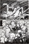 Original Comic Art:Panel Pages, Barry Windsor-Smith Rune #6 Story Page 5 Prime and MantraEnhanced Original Art (Malibu, 1994/2008)....