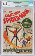 Silver Age (1956-1969):Superhero, The Amazing Spider-Man #1 (Marvel, 1963) CGC Qualified VG+ 4.5Off-white pages....