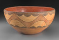 American Indian Art:Pottery, A Zia Polychrome Dough Bowl...