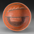 American Indian Art:Pottery, A Four Mile Polychrome Bowl...