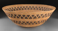 American Indian Art:Baskets, A Large Yokuts Coiled Bowl...