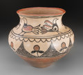 American Indian Art:Pottery, A San Ildefonso Polychrome Pictorial Storage Jar...