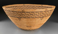 American Indian Art:Baskets, A Large Panamint Coiled Bowl...