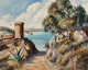 José Vives-Atsara (Spanish/American, 1919-2004) Seaside Path Oil on canvasboard 24 x 30 inches (61.0 x 76.2 cm) S...