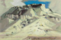 Fine Art - Painting, American, Otis Dozier (American, 1904-1987). Indian Village, 1952. Oilon Masonite. 24-1/4 x 31 inches (61.6 x 78.7 cm). Signed an...