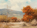 Paintings, Robert William Wood (American, 1889-1979). Texas Hill Country. Oil on board. 12 x 16 inches (30.5 x 40.6 cm). Signed low...