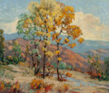 Paintings, Jessie Palmer (American, 1882-1956). Touches of Fall. Oil on canvas. 24 x 28 inches (61.0 x 71.1 cm). Signed lower left:...