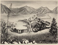 Fine Art - Work on Paper, Florence Elliott McClung (American, 1894-1992). Rio Grande.Lithograph . 12-1/2 x 16-3/4 inches (31.8 x 42.5 cm) (image)...