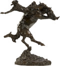 Fine Art - Painting, American, Bob Scriver (American, 1914-1999). Pay Window, 1968. Bronzewith brown patina. 25-1/2 inches (64.8 cm) high. Ed. 7. Insc...