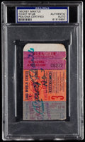 Baseball Collectibles:Tickets, Mickey Mantle Signed 1960 World Series Ticket Stub PSA/DNACertified. ...