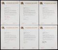 Football Collectibles:Others, 1986 San Francisco 49ers Signed Letters of 12....