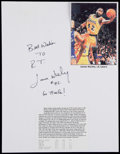 Basketball Collectibles:Others, James Worthy Signed Paper....