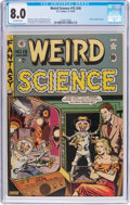 Golden Age (1938-1955):Science Fiction, Weird Science #15 (#4) (EC, 1950) CGC VF 8.0 Off-white pages....