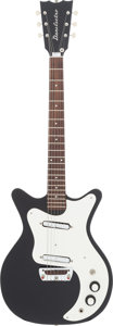 Musical Instruments:Electric Guitars, Circa 1964-65 Danelectro 4021 Black Solid Body Electric Guitar....