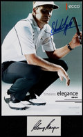 Golf Collectibles:Famous Names/Signatures, Gary Player Cut Signature and Stuart Appleby SignedAdvertisement....