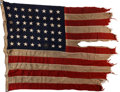 Military & Patriotic:WWII, Normandy Invasion Flag Flown Aboard the S.S. Charles Wilson Peale and the Uniform of Crewman Petty Officer Ral...