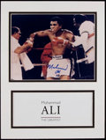 Boxing Collectibles:Autographs, Muhammad Ali Signed Photograph Display....