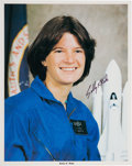 Autographs:Celebrities, Sally Ride Signed Astronaut Candidate Color Photo. ...