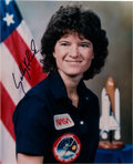 Autographs:Celebrities, Sally Ride Signed STS-7 Color Photo. ...